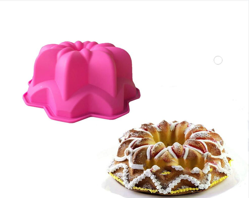 EASY FLEXIBLE LARGE 9'' 3D ECO-FRIENDLY FLOWER SHAPE CAKE MOLD - SILIBAK