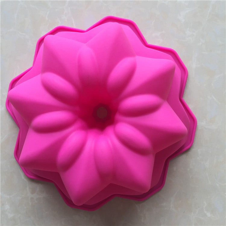 EASY FLEXIBLE LARGE SIZE 3D ECO-FRIENDLY FLOWER SHAPE CAKE MOLD - SILIBAK