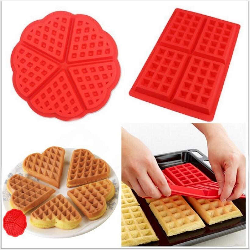 EASY FLEXIBLE ECO-FRIENDLY SILICONE WAFFLE BAKING MOLD (2 SHAPES) - SILIBAK