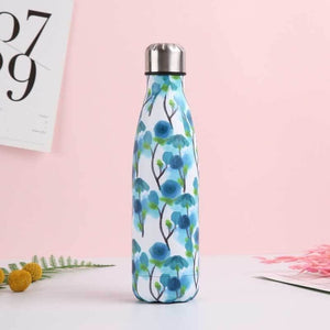 Bouteille ISOTHERME inox Floral (500ml) - Esprit Mandala