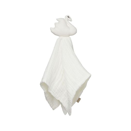 Swan Cuddle Cloth - GOTS - Off-White - rockababy