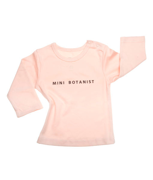 Mini Botanist Long Sleeve T-Shirt (Blush) - rockababy