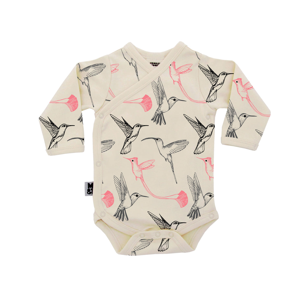 Moobles and Toobles | KIMONO BODYSUIT HUMMING BIRD PRINT - rockababy