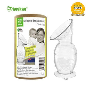 Haakaa Silicone Breast Pump with Suction Base 150ml - rockababy
