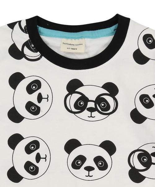 Panda Print Drop Hem Top - rockababy