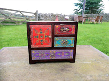 Fair Trade Hand Painted Chest, Made in India, Available at wildflowertrading.com