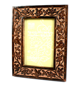Mango Wood Carved Bird Photo Frame