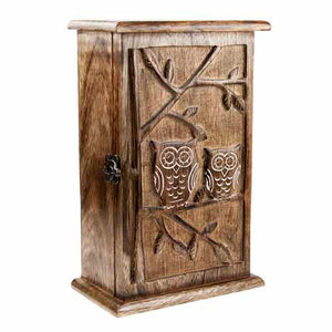 Owl Key Cabinet, Mango Wood