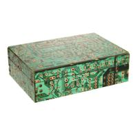 Recycled Circuit Board Decorative Box