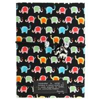 Black Elephant Charm Notebook