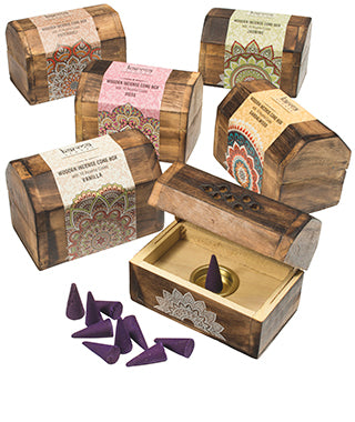 Karma Incense Cone Holder Box + Cones