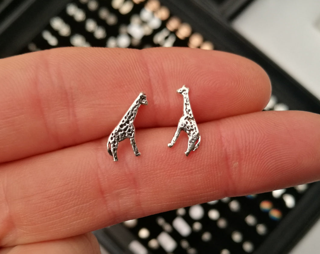 Giraffe Sterling Silver Stud Earrings