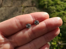 Rose Sterling Silver Stud Earrings