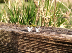 Butterfly Sterling Silver Stud Earrings