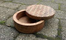Flower of Life Box, Mango Wood, Sliding Lid