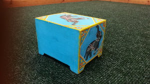 Elephant 2 Drawer Handpainted Box