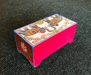 Hand Painted Elephant Two Drawer Chest