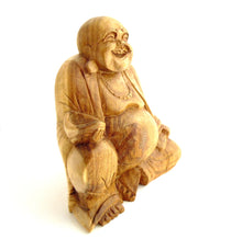 Wooden Chinese Laughing Buddha