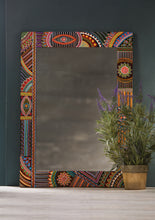 Mirror Hand Painted African Style