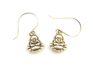 Lucky Buddha Silver Earrings