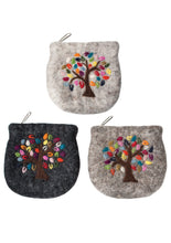 Embroidered Tree Design Felt Purse