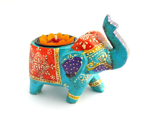 Turquoise Elephant Tealight Holder