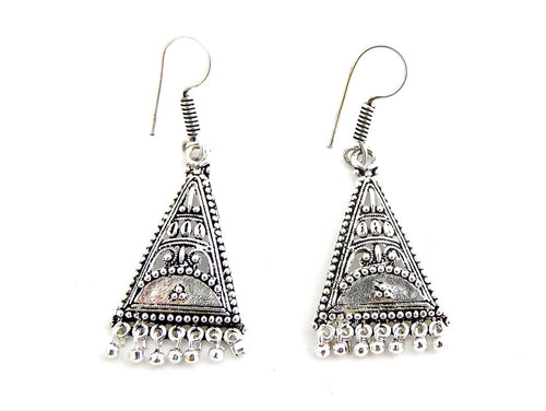 Silver Folk Style Earrings