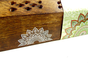 Karma Incense Stick Holder Box + Sticks