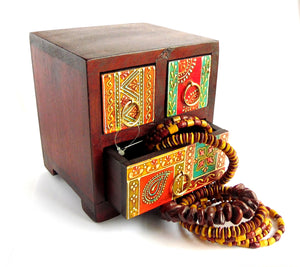 Small 3 Drawer Indian Chest