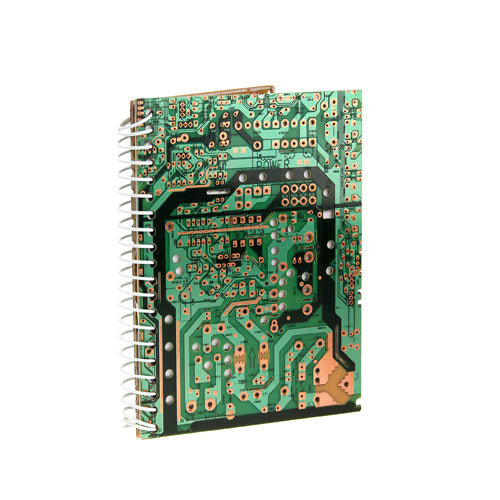 Recycled Circuit Board Note Book