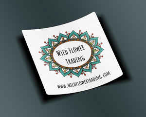 Vinyl Sticker ~ Wild Flower Trading