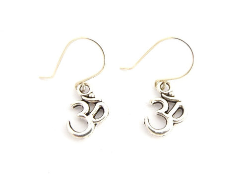 Aum Symbol Silver Earrings