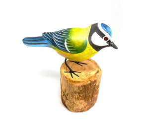 Blue Tit Hand Painted Wooden Ornament