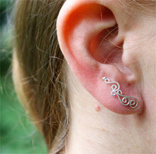 Silver Spiral Climber Earrings