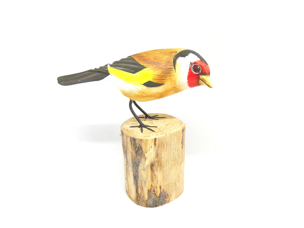 Goldfinch Hand Painted Wooden Ornament