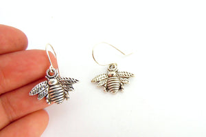 Honey Bee Silver Earrings