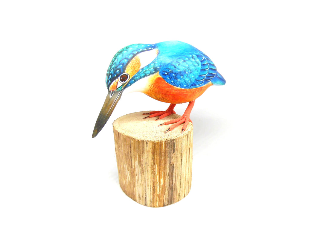 Kingfisher Hand Painted Wooden Ornament