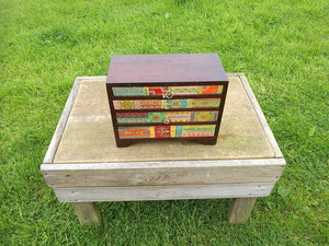 Large 4 Drawer Fair Trade Indian Spice Chest