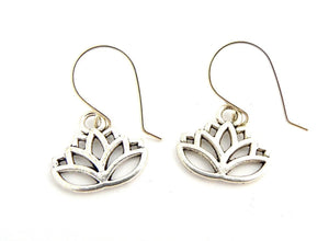 Lotus Flower Silver Earrings