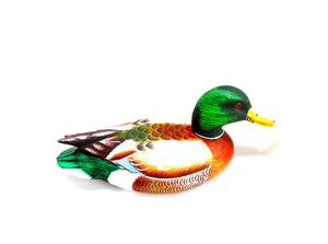 Male Mallard Duck Hand Painted Ornament