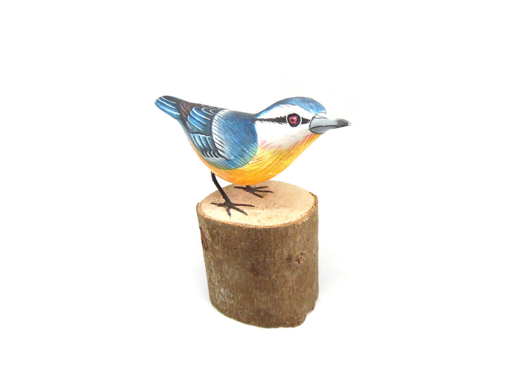 Nuthatch Hand Painted Wooden Ornament