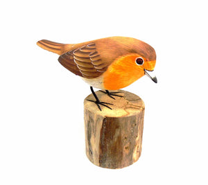 Robin Hand Painted Wooden Ornament