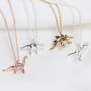 Triceratops Dinosaur Necklace