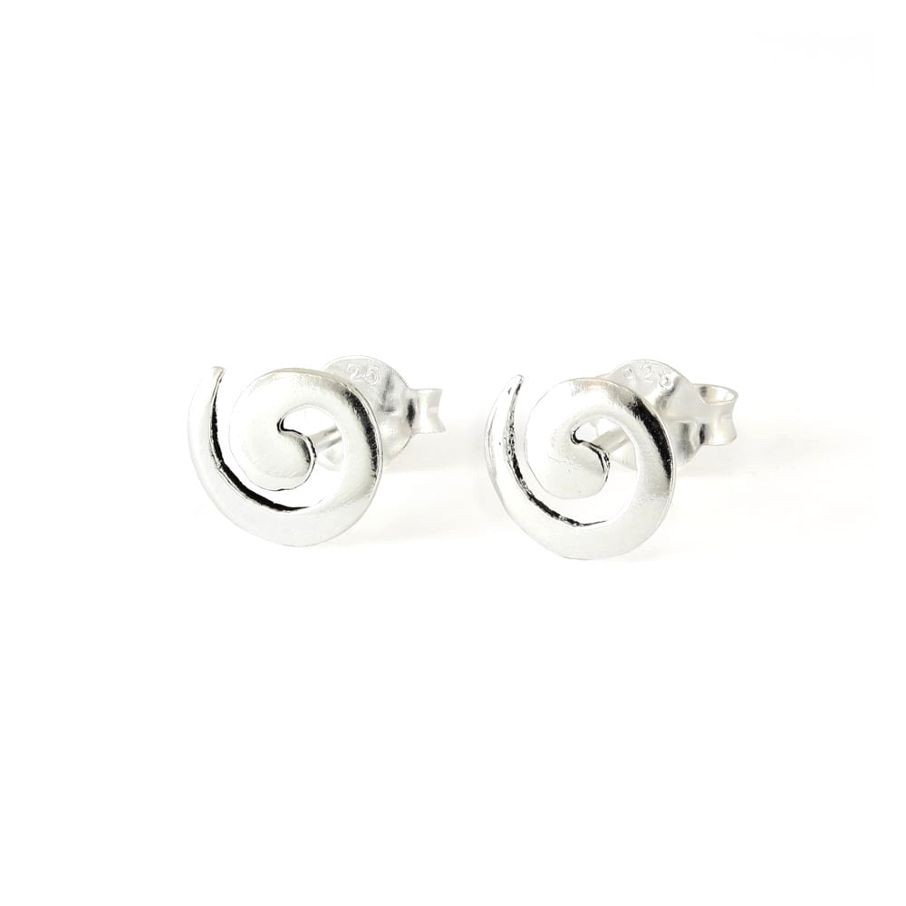 Spiral Stud Earring, Sterling Silver