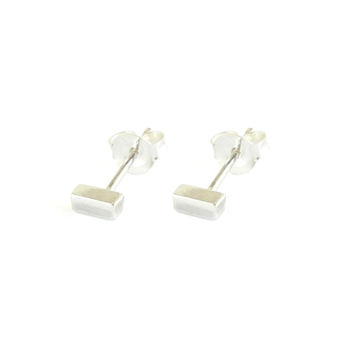 Bar Sterling Silver Stud Earrings