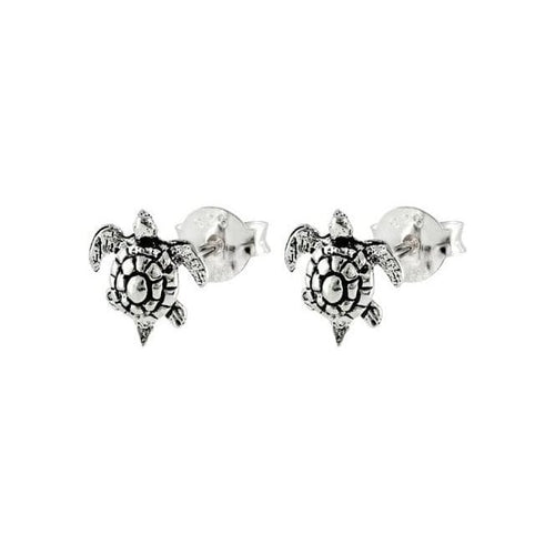 Turtle Sterling Silver Stud Earrings
