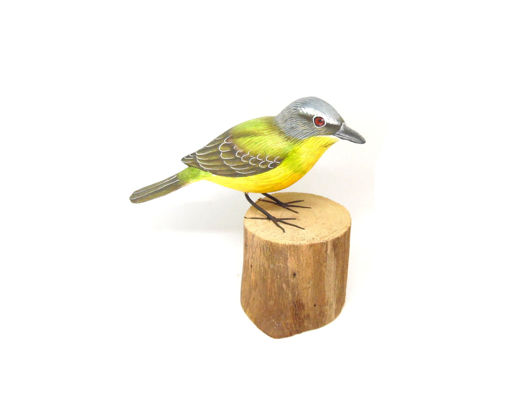 Yellow Wagtail Hand Painted Wooden Ornament