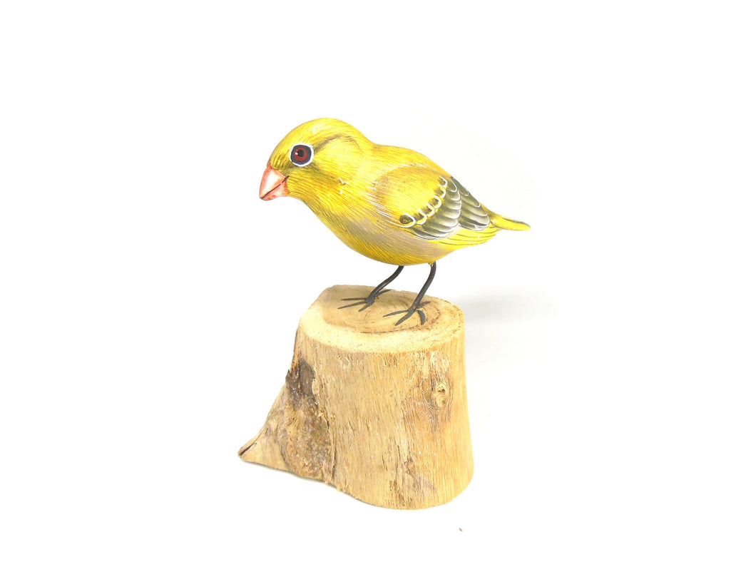 Greenfinch Hand Painted Wooden Ornament