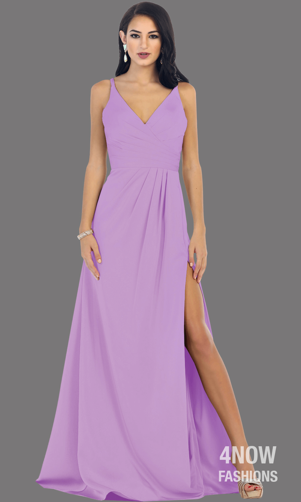 Eggplant High Slit Fitted Dress