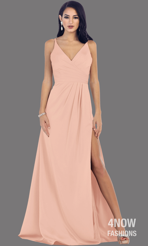 Dusty Rose High Slit Fitted Dress